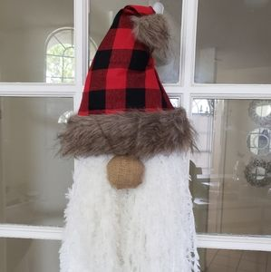 Buffalo plaid christmas gnome